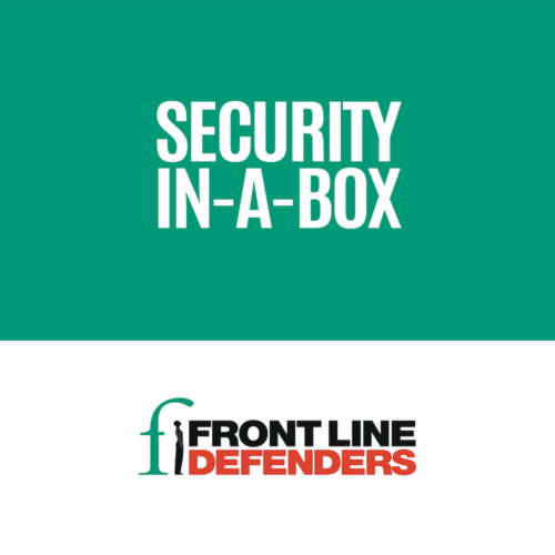 Front Line Defenders - Security In-A-Box